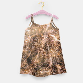 Miniaturka Sparkly gold fireworks Abstract Girl's dress, Live Heroes