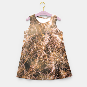 Miniaturka Sparkly gold fireworks Abstract Girl's summer dress, Live Heroes