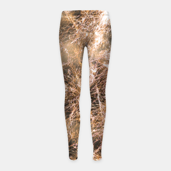 Miniaturka Sparkly gold fireworks Abstract Girl's leggings, Live Heroes