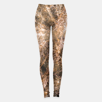 Miniaturka Sparkly gold fireworks Abstract Leggings, Live Heroes