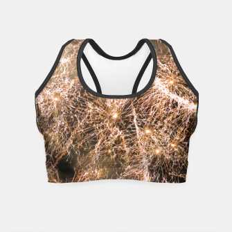 Miniaturka Sparkly gold fireworks Abstract Crop Top, Live Heroes