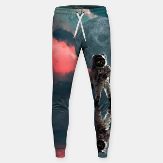 Thumbnail image of Astronaut Moon Space NASA Planet Pantalones de chándal , Live Heroes