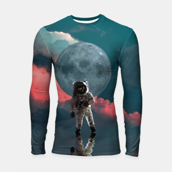 Thumbnail image of Astronaut Moon Space NASA Planet Longsleeve rashguard, Live Heroes