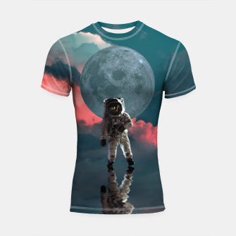 Thumbnail image of Astronaut Moon Space NASA Planet Shortsleeve rashguard, Live Heroes