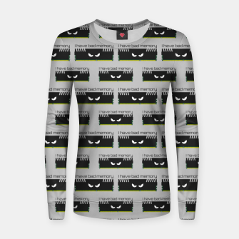 Thumbnail image of I have bad memory RAM geeky nerdy pattern Women sweater, Live Heroes
