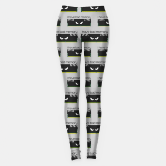 Thumbnail image of I have bad memory RAM geeky nerdy pattern Leggings, Live Heroes