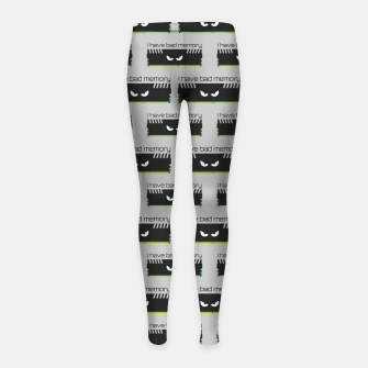 Thumbnail image of I have bad memory RAM geeky nerdy pattern Girl's leggings, Live Heroes