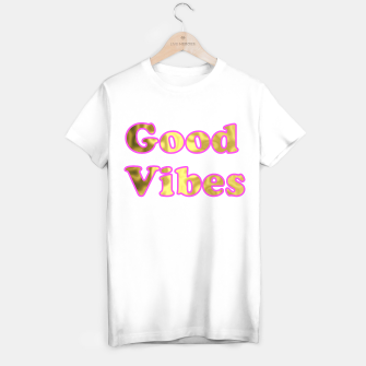 Miniatur Good Vibes Pink Gold T-shirt regular, Live Heroes
