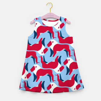 Miniature de image de Lion - United Kingdom flag symbol Girl's summer dress, Live Heroes