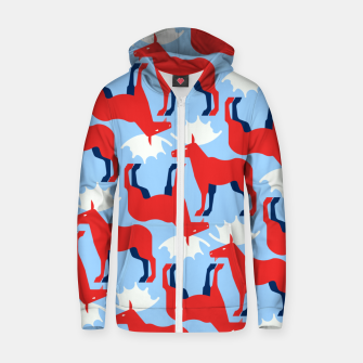 Miniature de image de Elk - Norway flag symbol Zip up hoodie, Live Heroes