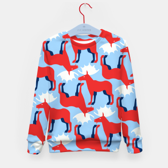 Miniature de image de Elk - Norway flag symbol Kid's sweater, Live Heroes