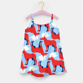 Miniature de image de Elk - Norway flag symbol Girl's dress, Live Heroes