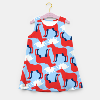 Miniature de image de Elk - Norway flag symbol Girl's summer dress, Live Heroes