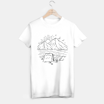 Miniatur Camping Lake and Mountain T-shirt regular, Live Heroes