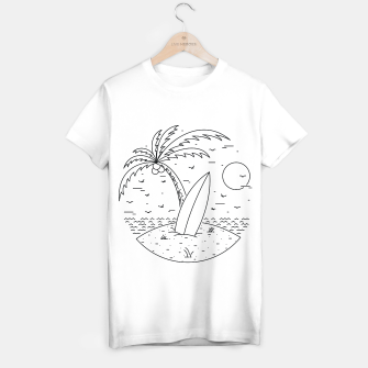 Thumbnail image of Surf Board T-shirt regular, Live Heroes