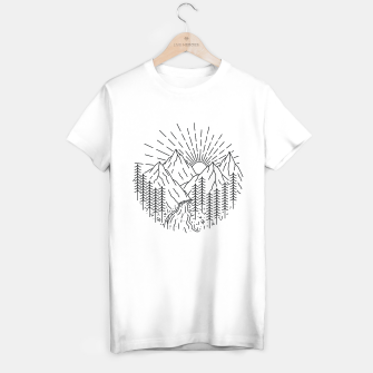 Miniatur Mountain and River T-shirt regular, Live Heroes