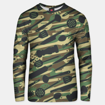 Thumbnail image of Chef Cooking Kitchen Cook Camo WOODLAND Unisex sweater, Live Heroes