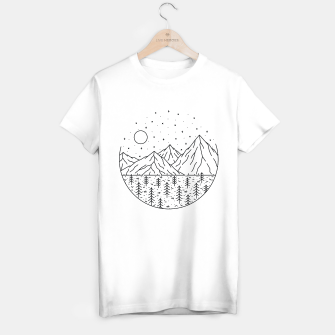 Miniatur Mountain and Tree T-shirt regular, Live Heroes