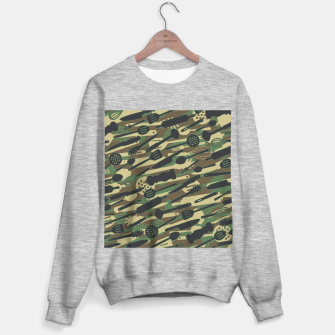 Thumbnail image of Chef Cooking Kitchen Cook Camo WOODLAND Sweater regular, Live Heroes