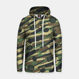 Thumbnail image of Chef Cooking Kitchen Cook Camo WOODLAND Hoodie, Live Heroes