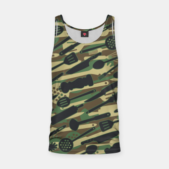 Thumbnail image of Chef Cooking Kitchen Cook Camo WOODLAND Tank Top, Live Heroes