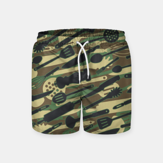 Thumbnail image of Chef Cooking Kitchen Cook Camo WOODLAND Swim Shorts, Live Heroes