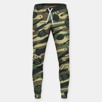 Thumbnail image of Chef Cooking Kitchen Cook Camo WOODLAND Sweatpants, Live Heroes