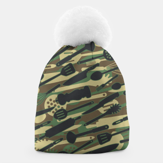 Thumbnail image of Chef Cooking Kitchen Cook Camo WOODLAND Beanie, Live Heroes