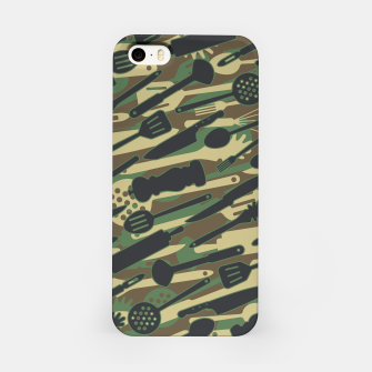Thumbnail image of Chef Cooking Kitchen Cook Camo WOODLAND iPhone Case, Live Heroes