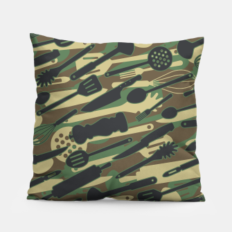 Thumbnail image of Chef Cooking Kitchen Cook Camo WOODLAND Pillow, Live Heroes