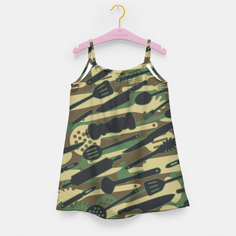 Thumbnail image of Chef Cooking Kitchen Cook Camo WOODLAND Girl's dress, Live Heroes