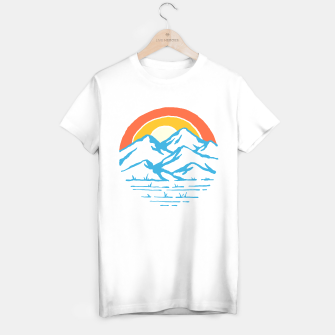 Miniatur Mountain and Rainbow T-shirt regular, Live Heroes