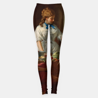 Thumbnail image of A Kitchen Idyll by Anton Ebert Old Masters Reproduction Leggings, Live Heroes