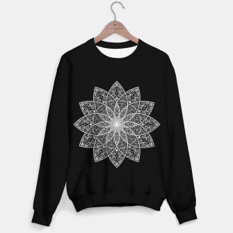 Thumbnail image of psychedelic mandala white Sweater regular, Live Heroes