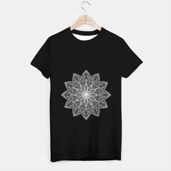 Thumbnail image of psychedelic mandala white T-shirt regular, Live Heroes