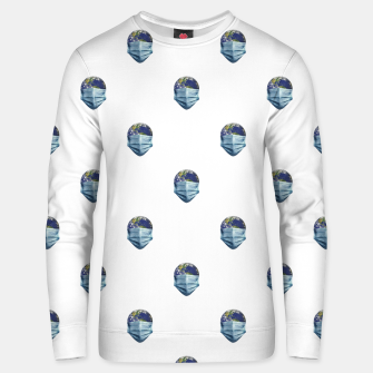 Thumbnail image of Earth With Face Mask Pandemic Concept Poster Unisex sweater, Live Heroes