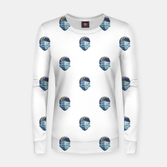 Thumbnail image of Earth With Face Mask Pandemic Concept Poster Women sweater, Live Heroes