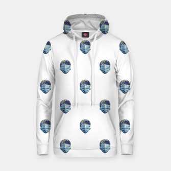 Thumbnail image of Earth With Face Mask Pandemic Concept Poster Hoodie, Live Heroes