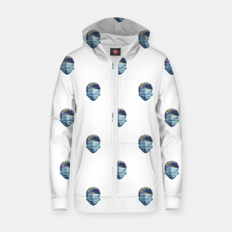 Thumbnail image of Earth With Face Mask Pandemic Concept Poster Zip up hoodie, Live Heroes
