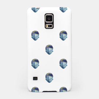 Thumbnail image of Earth With Face Mask Pandemic Concept Poster Samsung Case, Live Heroes