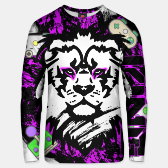 Thumbnail image of Lion gamer Unisex sweater, Live Heroes