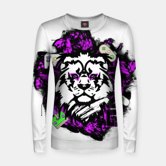Thumbnail image of Lion gamer Women sweater, Live Heroes