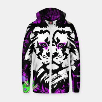 Thumbnail image of Lion gamer Zip up hoodie, Live Heroes