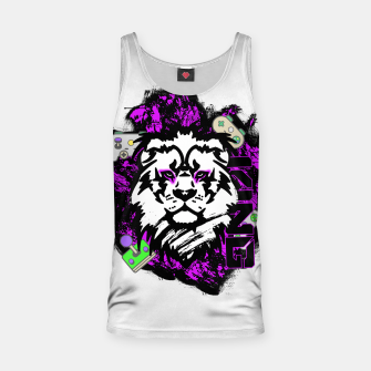 Thumbnail image of Lion gamer Tank Top, Live Heroes