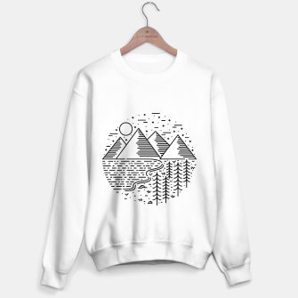 Miniatur Mountain Lake Tree Sweater regular, Live Heroes