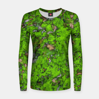 Thumbnail image of Big mossy wall Women sweater, Live Heroes