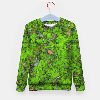Thumbnail image of Big mossy wall Kid's sweater, Live Heroes