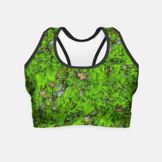 Thumbnail image of Big mossy wall Crop Top, Live Heroes