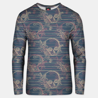 Thumbnail image of Navy Nautical Skull Unisex sweater, Live Heroes