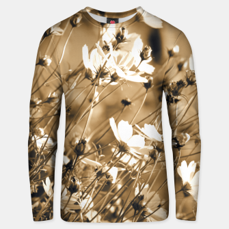 Miniatur Dreamy, sepia colors wild meadow flowers photography Unisex sweater, Live Heroes